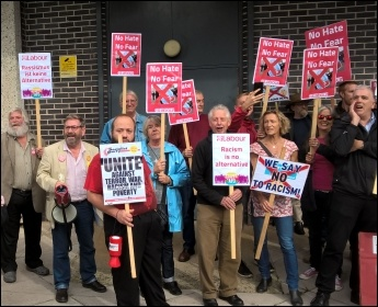 Protest outside Ukip conference in Torbay, photo Sean Brogan