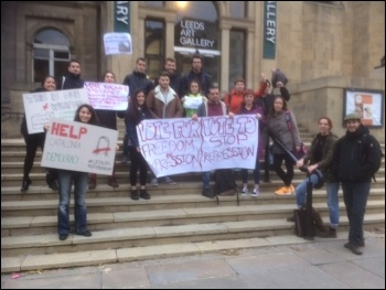 Solidarity with Catalonia from Leeds, photo by Ros Campbell