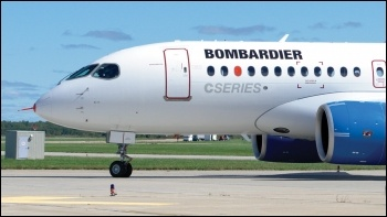 A Bombardier plane, photo by Yan Gouger/CC