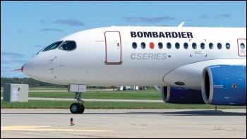 A Bombardier plane, photo by Yan Gouger/CC
