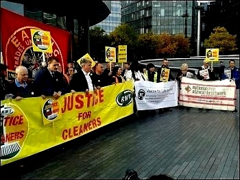 RMT cleaners protest 12 October 2017