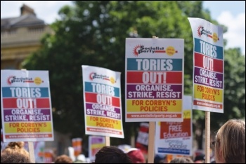 Tories out! photo by Mary Finch