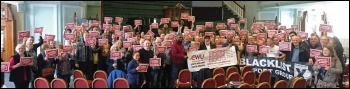 Coventry's 'Who's Watching Whom?' conference on state surveillance sends solidarity to Royal Mail workers, photo by Dave Nellist