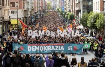 Protest in support of the Catalan referendum, photo Dani Blanco/Argia/CC
