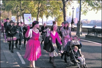 Women marching in 2011 to say