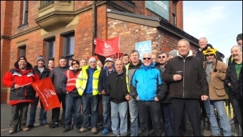 Arriva drivers' strike 30.10.17, photo Hugh Caffrey