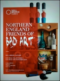 The programme cover for the Skipton Bad Art exhibition 2017