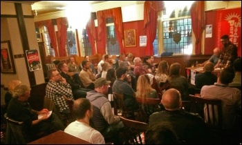 Birmingham Socialist Party's public meeting celebrating the centenary of the October revolution, photo by Birmingham Socialist Party