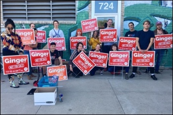 Some of Ginger's campaign team, photo by Vote Ginger Jentzen