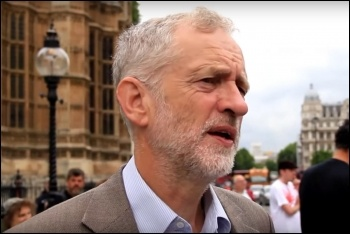 Jeremy Corbyn at Westminster, photo by RevolutionBahrain/CC
