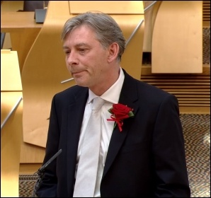 New Scottish Labour leader Richard Leonard, photo The Scottish Parliament/CC
