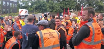 Birmingham bin strikers, photo Birmingham Socialist Party