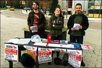 Warwick: Socialist Students Budget Day protest, 22.11.17