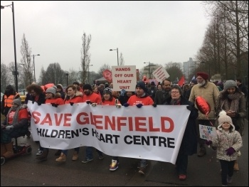 Glenfield demo, 11 Feb 2017, photo Pete Watson