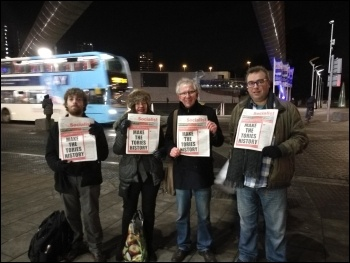 Coventry Socialist sellers, photo PD Hunt