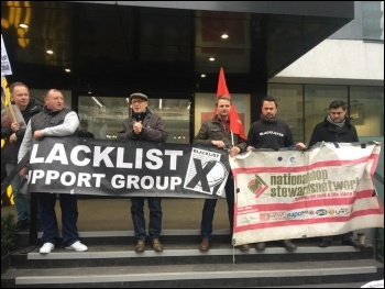 London blacklisting protest 6 December 2017, photo Theo Sharieff