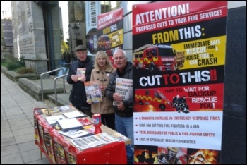 Socialist Party members campaigning alongside the FBU, photo by Harrogate Socialist Party