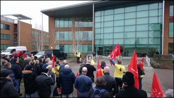 Protest against lay-off of Fujitsu worker Ian Allinson, photo B Heagney