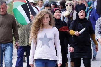 The face of protest against the brutal Israeli occupation of Palestinian territory: 16-year-old Ahed Tamimi, photo Haim Schwarczenberg/schwarczenberg.com (CC)