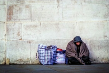 The Tories have increasingly persecuted the homeless, photo Garry Knight (CC)