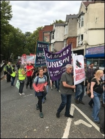 Marching against the HDV, Haringey