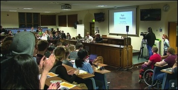 Birmingham uni 'Question Time'