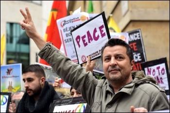 Kurdish protest London 27 January 2018, photo Mary Finch