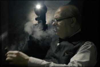 Gary Oldman as Churchill in Darkest Hour