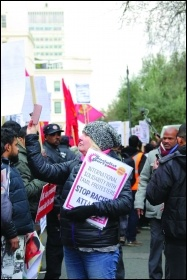 Tamils and supporters marching on 9 February, photo Nadesan