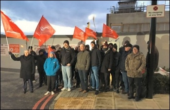 Woolwich Crossrail walkout, photo Rob Williams