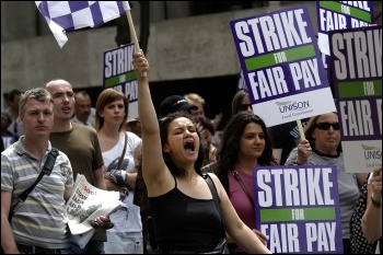 Unison pay strike, photo Paul Mattsson
