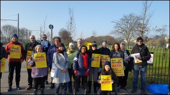 University of Nottingham UCU pensions strike 22 February 2018, photo Gary Freeman