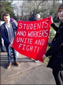 Sussex university, UCU strike Feb 2018