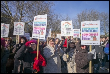 Walthamstow SoS demo, 24.2.18, photo by Paul Mattsson