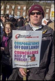 Save our Square demo, 24.2.18, photo Paul Mattsson