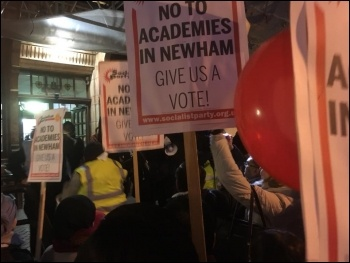 Newham anti-academies rally 26 February 2018, photo Niall Mulholland, photo Niall Mulholland