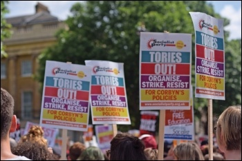 Corbyn needs to lead the campaign against all Tories - blue and red, photo Mary Finch