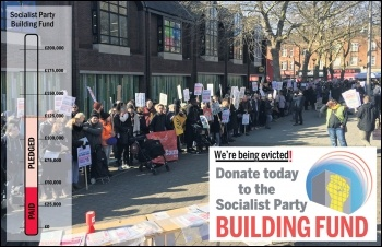 Like the working class throughout London, the Socialist Party faces eviction by gentrification