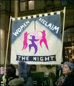 Reclaim the Night demo, Nottingham, 2017, photo Heather Rawling