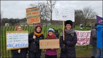 UCU members at University of Nottingham, photo by Gary Freeman