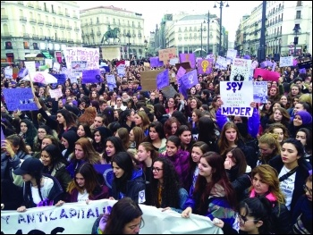 International Women's Day 2018 in Spain, photo Libres y Combativas
