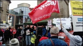 Newcastle NHS demonstration 10 March 2018, photo Ryan Holmes