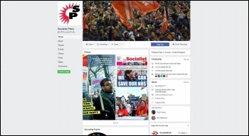 Socialist Party Facebook page