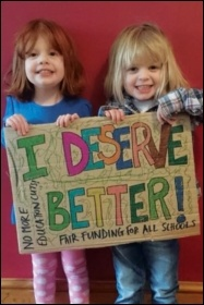 Children deserve high quality, fully funded education, photo by Southampton Fair Funding for All Schools