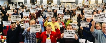 Solidarity with Chris at Socialist Party Congress 2018