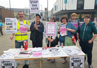 Southampton Socialist Party members campaigning for TUSC candidates in the 3rd May local elections