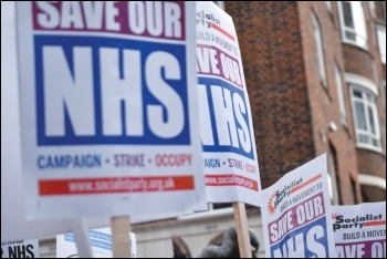 Save our NHS, photo Mary Finch