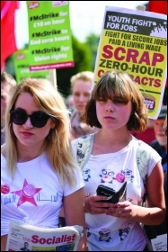 Scrap zero-hour contracts! photo Mary Finch