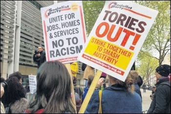 The Blairites are responsible for real racist policies - observing that right-wing MPs work with the right-wing press is not racist, photo by London Socialist Party