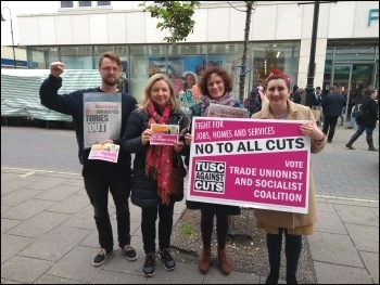 TUSC campaigners in Newham, May 2018